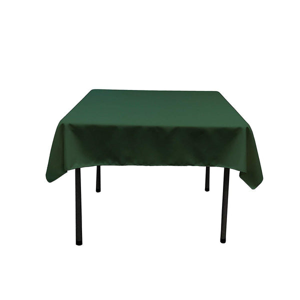 Square Tablecloth - 60 x 60 Inch - Hunter Green Square Table Cloth for Square or Round Tables in Washable Polyester - Great for Buffet Table, Parties, Holiday Dinner, Wedding & More - Supreme Acoustics