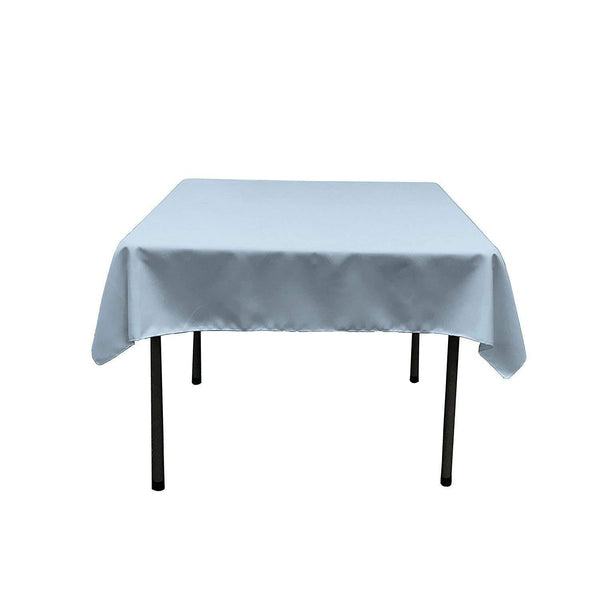 Square Tablecloth - 60 x 60 Inch - Baby Blue Square Table Cloth for Square or Round Tables in Washable Polyester - Great for Buffet Table, Parties, Holiday Dinner, Wedding & More