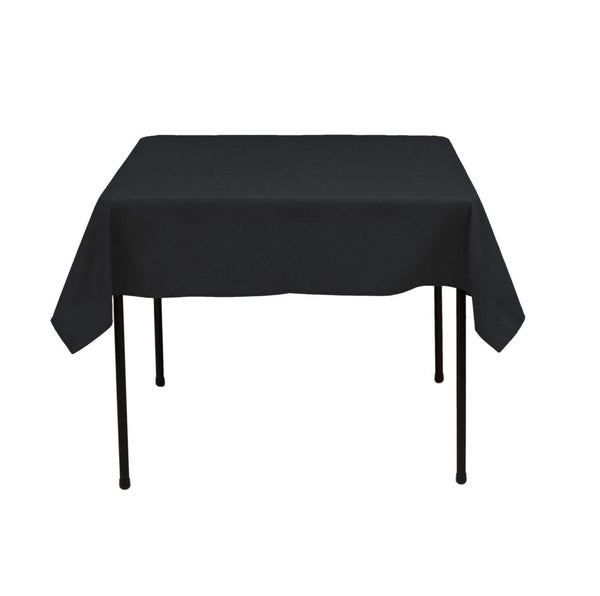 Square Tablecloth - 60 x 60 Inch - Black Square Table Cloth for Square or Round Tables in Washable Polyester - Great for Buffet Table, Parties, Holiday Dinner, Wedding & More