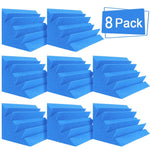 "Blue 8 Corner Bass Trap/Absorber - 12"" x 12"" x 24"" Acoustic Sound Foam Kit - SoundProofing and Deadening - Made In The USA!"