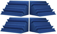 "Acoustic Absorption Bass Traps, 24"" x 12"" x 12"", 4 Pack, Blue - Supreme Acoustics"