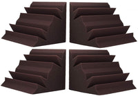 "Acoustic Absorption Bass Traps, 24"" x 12"" x 12"", 4 Pack, Burgundy - Supreme Acoustics"