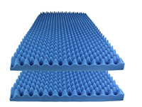 "Acoustic Foam Egg Crate Panel Studio Foam Wall Panel 48"" X 24"" X 2.5"" (2 Pack) Blue - Supreme Acoustics"
