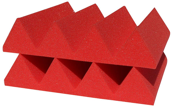 "Soundproofing Acoustical Foam Sheet Acoustic Foam 3"" Thick Wedge Style 6ft X 8ft Sheet (48 Sqft) Choose Color Below"