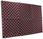 "Burgundy Acoustic Panels Studio Foam Egg Crate 2"" X 12"" X 12"" ( 6 Pack )"