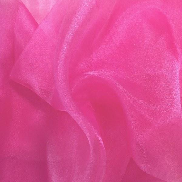 "Crystal Sheer Organza Fabric for Fashion, Crafts, Decorations 58"" By the Yard Fuchsia - Supreme Acoustics"