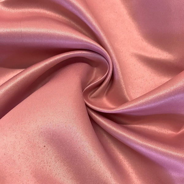 "Dusty Rose Matte Satin (Peau de soie) Dutchess Satin Fabric 60"" Inches 100% polyester By The Yard For Blouses, Dresses, Gowns and Skirts."