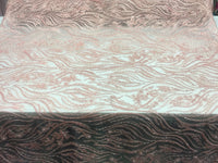 Beaded Fabric - Blush Embroidered Lace Beads By The Yard For Bridal Veil Mesh Dress Top Wedding Decoration