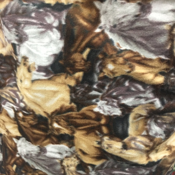 Horse Stampede Print Polar Fleece Fabric 60 Width Sold By The Yard
