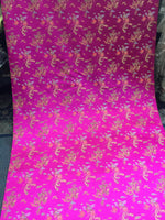 Asian Designs stunning faux silk dragon phoenix Brocade satin Fuchsia fabric designer material by yard
