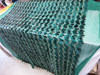 Green Grass Spike Design Sequins Mesh Fabric By Yard
