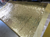 Drop Sequin Fabric / Gold / Sold By The Yard