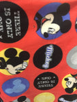 "Disney Mickey Mouse Allover Fleece Fabric - 60"" Wide. Sold By The Yard"