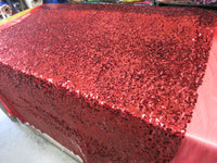 Drop Sequin Fabric / Red / Sold By The Yard