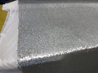 Drop Sequin Fabric / Matt Silver / Sold By The Yard