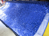 Drop Sequin Fabric / Royal Blue / Sold By The Yard