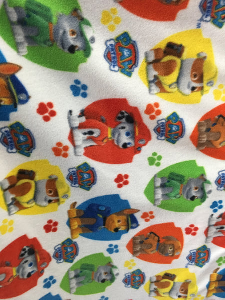 "Paw Patrol Rescue Fleece Fabric - 60"" Wide - Style. Sold By The Yard White - Supreme Acoustics"