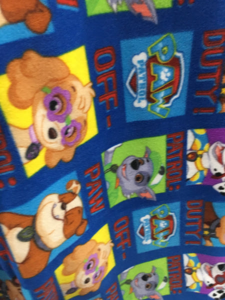 Paw Patrol Off-Duty Blue By David Textiles Fleece Printed Fabric - By The Yard - Supreme Acoustics