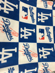 "Baseball MLB Los Angeles Dodgers By Fabric Traditions Polar Fleece Fabric - 60"" Width Sold By The Yard"