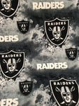 "Oakland Raiders NFL Fleece Fabric - 60"" Wide Sold By The Yard - Supreme Acoustics"
