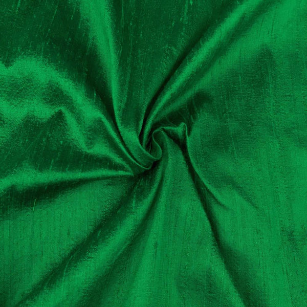 "100% Pure Silk Dupioni Fabric 54""Wide BTY Drape Blouse Dress Craft Sold By The Yard.Green - Supreme Acoustics"