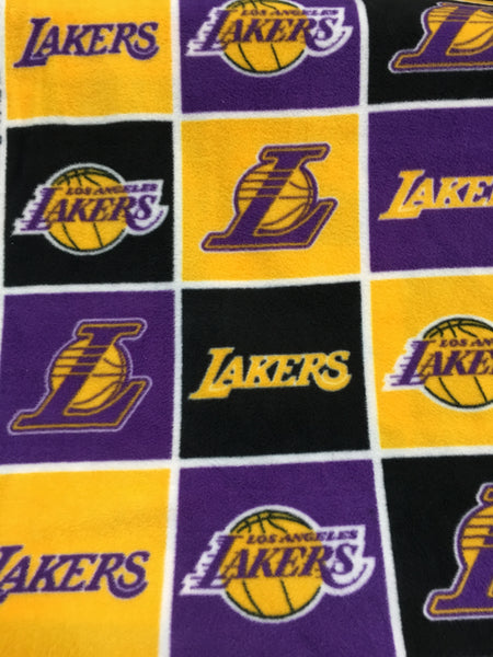 NBA Los Angeles Lakers By Camelot Fabrics Fleece Printed Fabric - Sold By The Yard - Supreme Acoustics