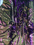 New Unicorn Purple Lilac Green Iridescent Both SidesNewTwo Tone Flip up Sequins/Reversible Sequins Fabric Sold By The Yard
