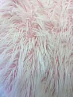 Frozen Polar Bear Shaggy Faux Fur Fabric / Pink / Sold By The Yard