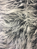 Frozen Polar Bear Shaggy Faux Fur Fabric / charcoal / Sold By The Yard