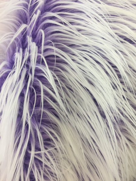 Frozen Polar Bear Shaggy Faux Fur Fabric / Lilac / Sold By The Yard