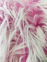 Frozen Polar Bear Shaggy Faux Fur Fabric / Fuchsia / Sold By The Yard