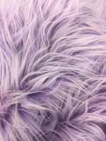 Faux Fake Fur Solid Mongolian Long Pile Fabric / Lavender / Sold By The Yard