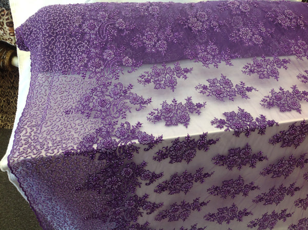 Bridal Dresses tablecloths night gowns Skirts prom Purple Beaded Multi-Color Floral Bridal Lace Flower Mesh Dress Wedding Decoration