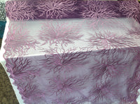 Luxurious Egg Plant Embroidered Root Design Mesh Lace Fabric Fashion By Yard Bridal Wedding Dress Prom and Decorations