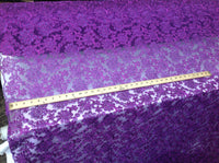 Bridal Wedding Mesh Lace Fabric purple Metallic floral Yard dresses tablecloths night gowns Skirts prom dresses wedding dresses decoration By Yard