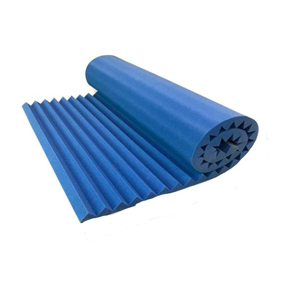"Blue Acoustical Wedge 2"" x 36"" x 96"" Soundproofing Acoustic Foam 2"" Thick Wedge Style 8ft X 3ft Sheet (24 sqft)"