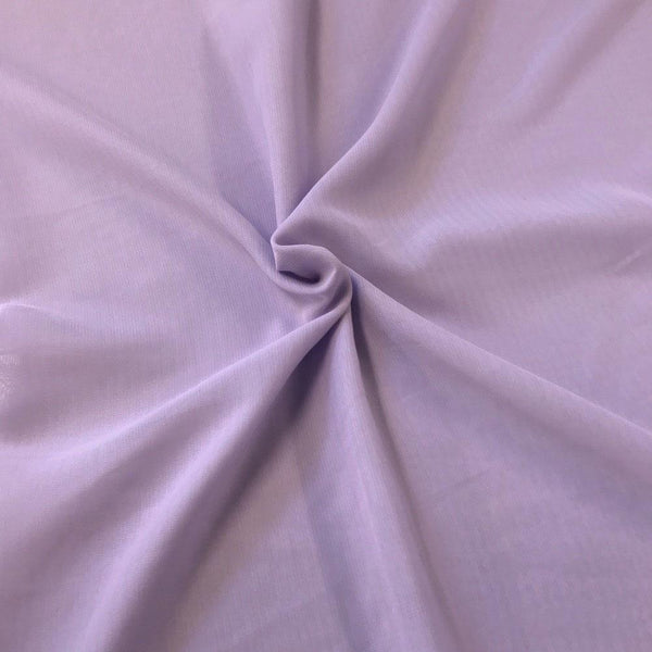 Lilac Chiffon Fabric Polyester Sheer 58'' Wide By the Yard for Garments, Decoration, Crafts special occasions, bridesmaid dresses and more.