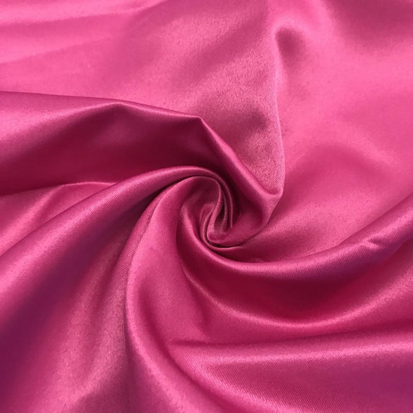 "Magenta Matte Satin (Peau de soie) Dutchess Satin Fabric 60"" Inches 100% polyester By The Yard For Blouses, Dresses, Gowns and Skirts."