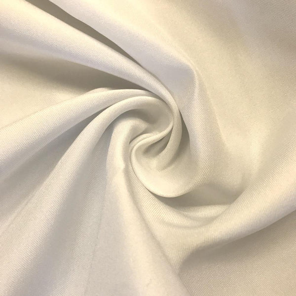 "Off White Matte Satin (Peau de soie) Dutchess Satin Fabric 60"" Inches 100% polyester By The Yard For Blouses, Dresses, Gowns and Skirts."