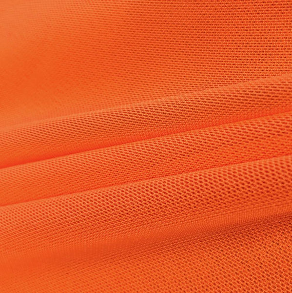 "Solid Power Mesh Fabric Nylon Spandex 60"" wide Stretch Sold By Yard Orange - Supreme Acoustics"