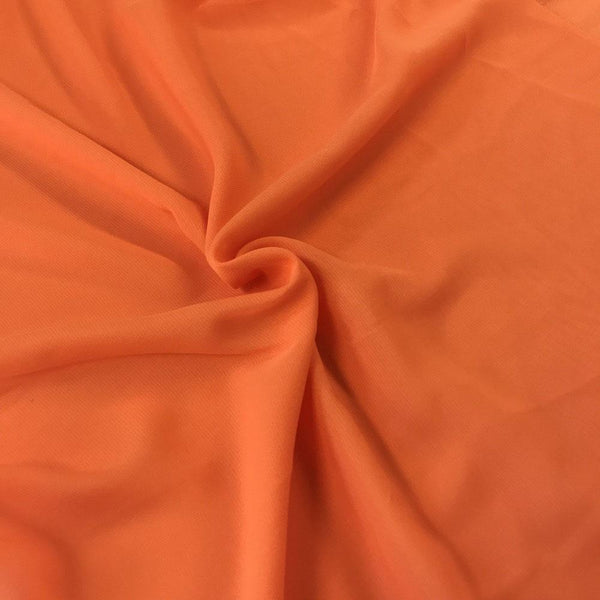 Orange Chiffon Fabric Polyester Sheer 58'' Wide By the Yard for Garments, Decoration, Crafts special occasions, bridesmaid dresses and more.
