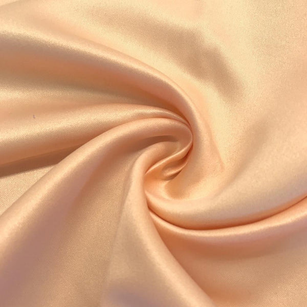 "Peach Matte Satin (Peau de soie) Dutchess Satin Fabric 60"" Inches 100% polyester By The Yard For Blouses, Dresses, Gowns and Skirts. - Supreme Acoustics"