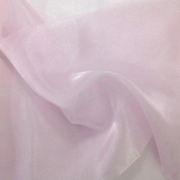 "Crystal Sheer Organza Fabric for Fashion, Crafts, Decorations 58"" By the Yard Pink - Supreme Acoustics"