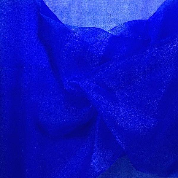 "Crystal Sheer Organza Fabric for Fashion, Crafts, Decorations 58"" By the Yard Royal Blue - Supreme Acoustics"