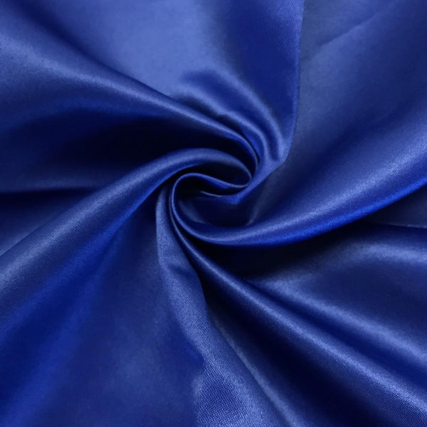 "Royal Blue Matte Satin (Peau de soie) Dutchess Satin Fabric 60"" Inches 100% polyester By The Yard For Blouses, Dresses, Gowns and Skirts. - Supreme Acoustics"