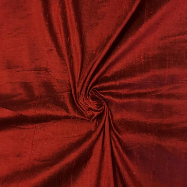 "100% Pure Silk Dupioni Fabric 54""Wide BTY Drape Blouse Dress Craft Sold By The Yard Ruby - Supreme Acoustics"