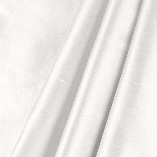 "White 100% Pure Silk Shantung Fabric 54""Wide BTY Drape Blouse Dress Craft Sold By The Yard. - Supreme Acoustics"