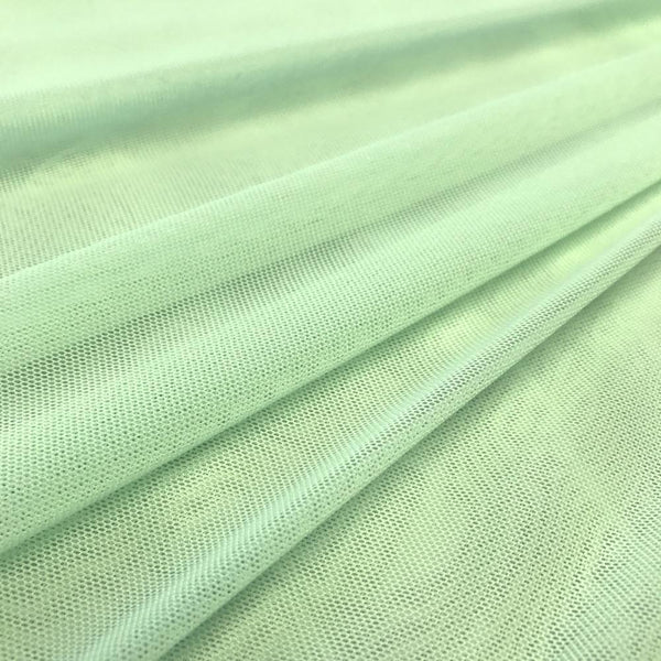 "Solid Power Mesh Fabric Nylon Spandex 60"" wide Stretch Sold By Yard Mint"