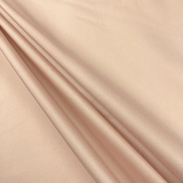 "Polyester Taffeta Lining Fabric 54"" Wide Fabric Sold By The Yard. Nude"