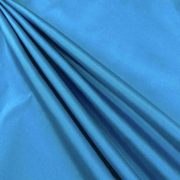 "Polyester Taffeta Lining Fabric 54"" Wide Fabric Sold By The Yard. Turquoise"